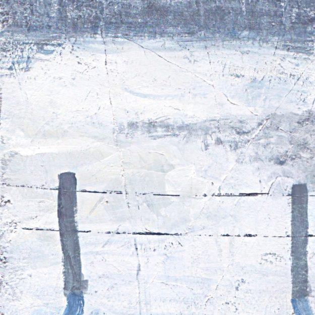 minimalist art abstract landscape fog acrylic paper Denmark Værløse