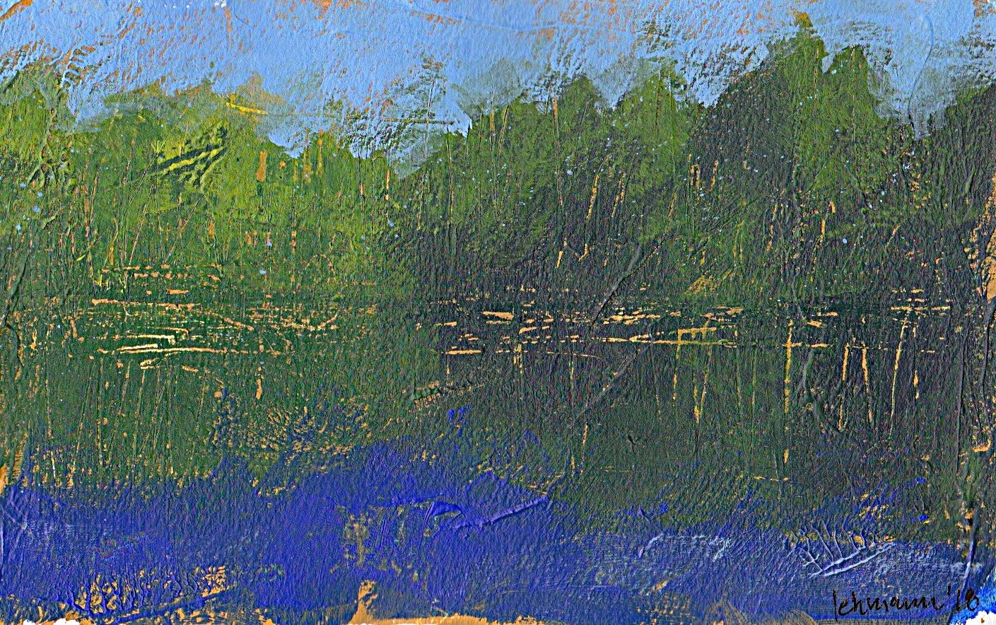 minimalist art semi abstract acrylic landscape weather light Hareskoven