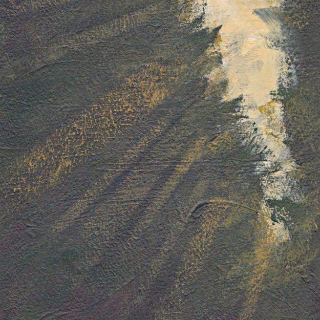 minimalist art semi abstract acrylic Hareskoven landscape painting weather light