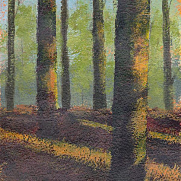 minimalist art landscape painting acrylic on paper weather light Hareskoven Denmark