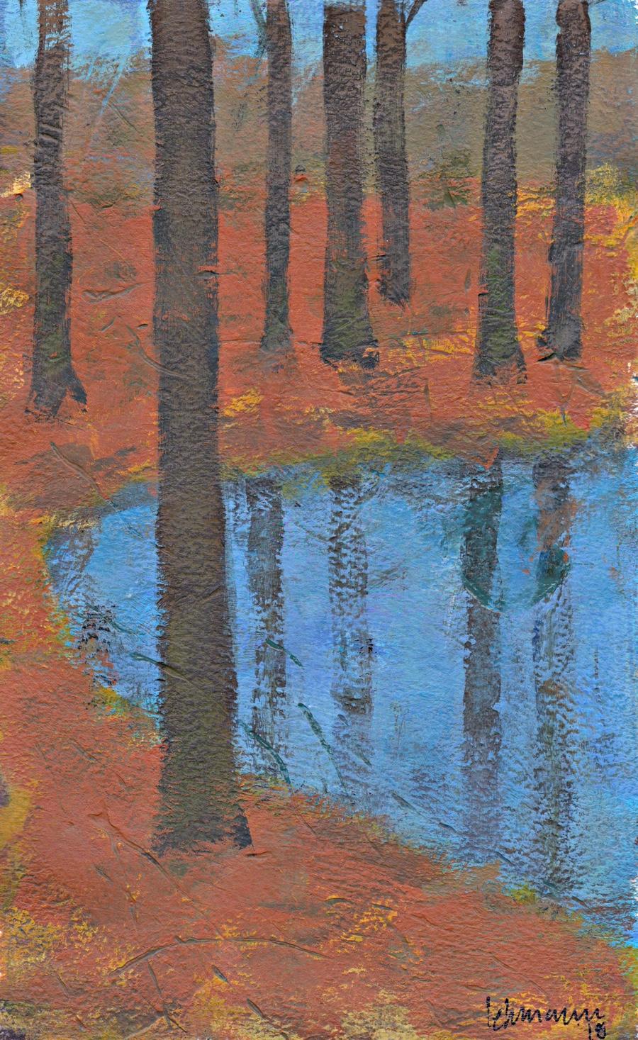 minimalist painting acrylic landscape Harskoven Denmark